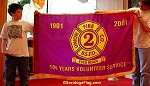 .UNION FIRE DEPT- 100 Year Anniversary FLAG